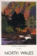 Welsh Railway Travel Poster, Pass of Aberglaslyn, North Wales by Norman Wilkinson